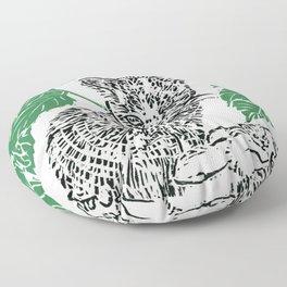 woodblock print Floor Pillow