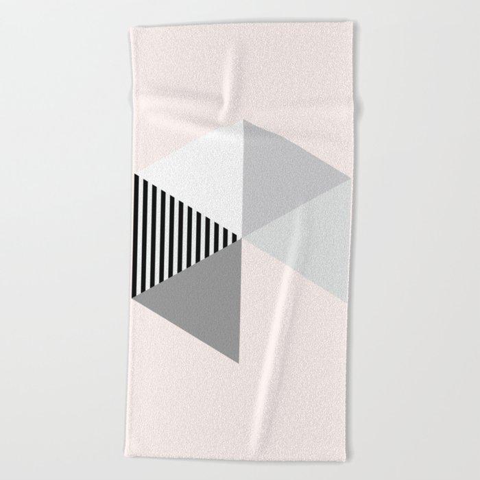 Minimalist Geometric Beach Towel