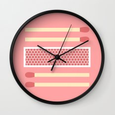 #75 Matches Wall Clock