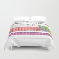 periodic table Duvet Covers featuring The Periodic Table of Elements by moleculestore