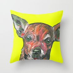 Chihuahua, printed from an original painting by Jiri Bures Throw Pillow