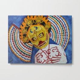 Masks Metal Print