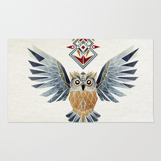 owl winter Rug