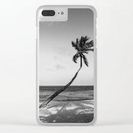 San Pedro Palm B&W Clear iPhone Case