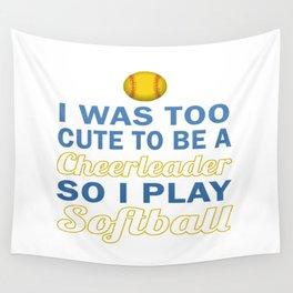 Cute Cheerleader Softball Wall Tapestry