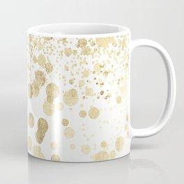 Trendy elegant faux gold modern confetti pattern Coffee Mug
