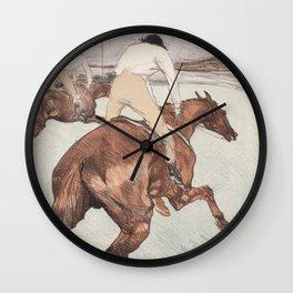 "Henri de Toulouse-Lautrec ""Le Jockey"" Wall Clock"