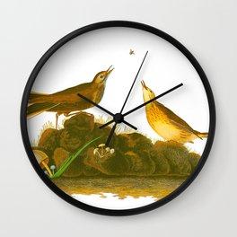 Brown Lark Bird Wall Clock