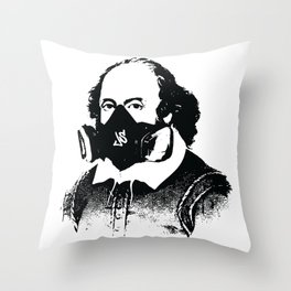 William Shakesprayer Throw Pillow