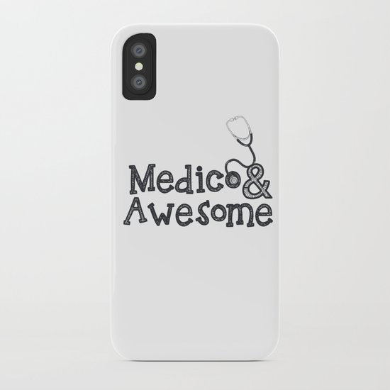 Medico & Awesome iPhone Case