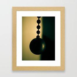 Pull Chain Switch Framed Art Print