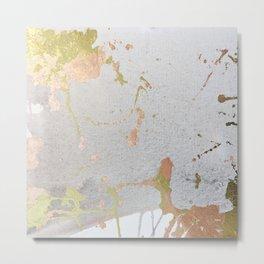 Copper & Gold Leaf Metal Print