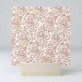 Elegant romantic rose gold roses pattern image Mini Art Print
