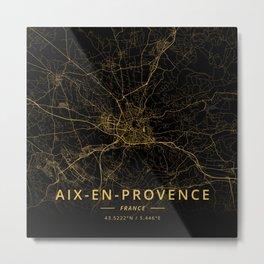 Aix-en-Provence, France - Gold Metal Print