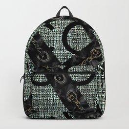 fashion chain gold black green Backpack