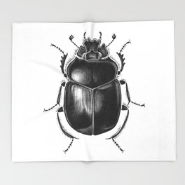 Beetle 13 Throw Blanket