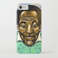 bill iPhone & iPod Cases featuring Bill Cosby by Portraits on the Periphery