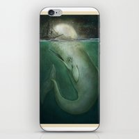 dick iPhone & iPod Skins featuring Moby Dick by Marilyn Foehrenbach