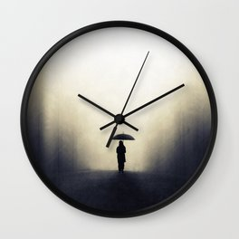 Wandering alone Wall Clock