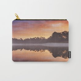 Reflections of sunrise at a quiet lake, Henschotermeer, The Netherlands Carry-All Pouch