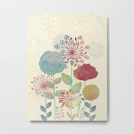 Flower Tales Metal Print