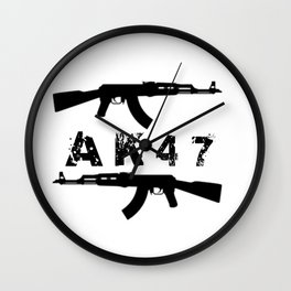 AK47 Rifles Wall Clock