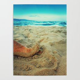 toe in the sand Poster