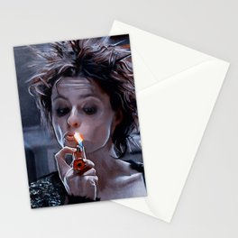 Marla Singer Smokes A Cigarette During Group Therapy - Fight Stationery Cards
