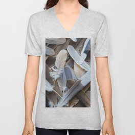 Feather Collection Unisex V-Neck