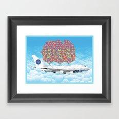 Happy Plane Framed Art Print