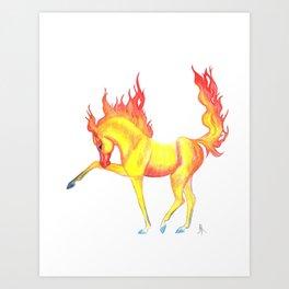 Fire Horse Art Print