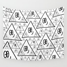 pyramid pattern Wall Tapestry