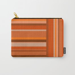 Vertical and Horizontal Stripes Orange Carry-All Pouch