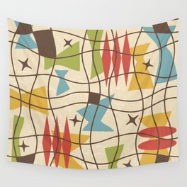 Mid Century Modern Abstract Pattern 571 Wall Tapestry