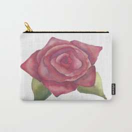 Soft Red Rose Carry-All Pouch