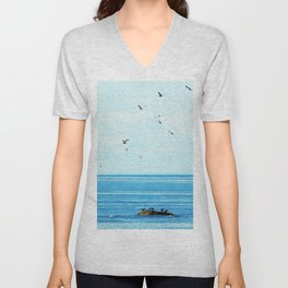 Birds of Summer Unisex V-Neck