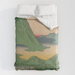 Mountain and Sea Ukiyoe Landscape Comforters