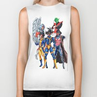 xmen Biker Tanks featuring Z fighters crossover xmen by Unic art
