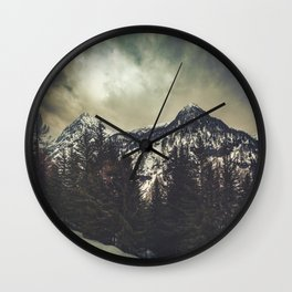 Alpine Twin Peaks Wall Clock