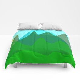Alpine landscape Comforters