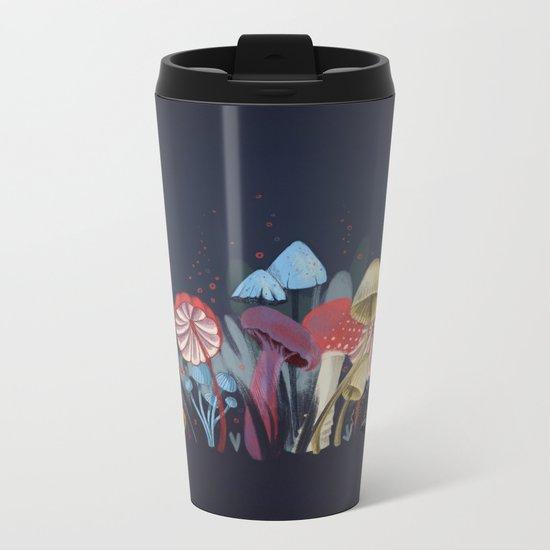 Wild Mushrooms Metal Travel Mug
