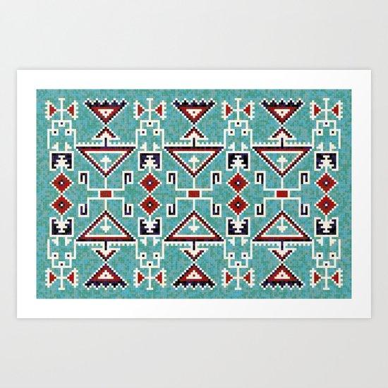 Native American Indians Navajo Pattern by catyarte