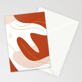 Terracotta Clouds Stationery Cards