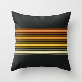 Kagekatsu - Classic Black Orange Retro Stripes Throw Pillow