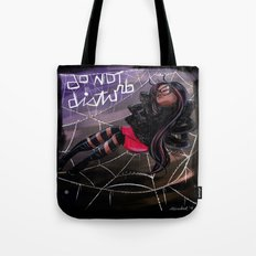Bug Girls: Napping Spider Tote Bag
