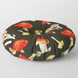 Brigt Mushrooms Floor Pillow