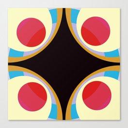 Colorful Retro Shapes Canvas Print