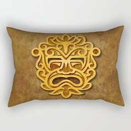 Stylish Stone Mayan Mask Rectangular Pillow