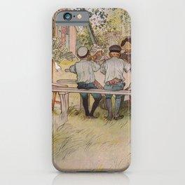 Carl Larsson - Breakfast under the Big Birch iPhone Case