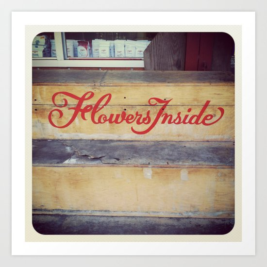 flowers inside Art Print